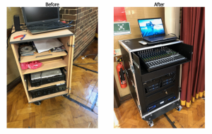 Portable School P.A. system before and after our work