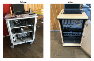 School P.A. system before and after our work