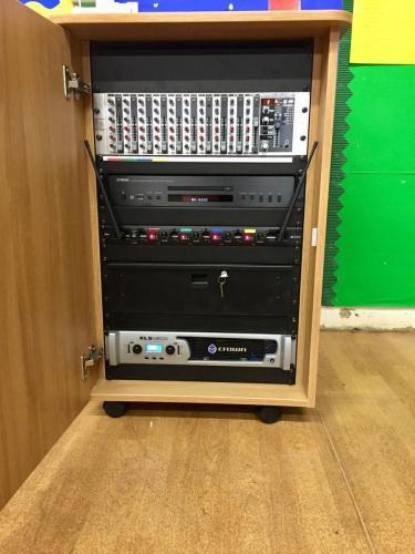 Standard AV cabinet P.A. system 4